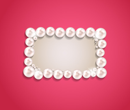 Beauty Pearl Frame Background Vector illustration Vector