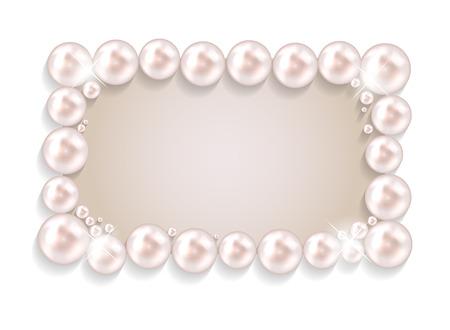 Beauty Pearl Frame Background Vector illustration Vector