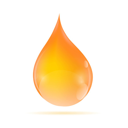 Oil Orange Drop  Vector Illustration Vector