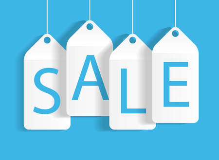 Sale Banner with Place for Your Text. Vector Illustration Vector