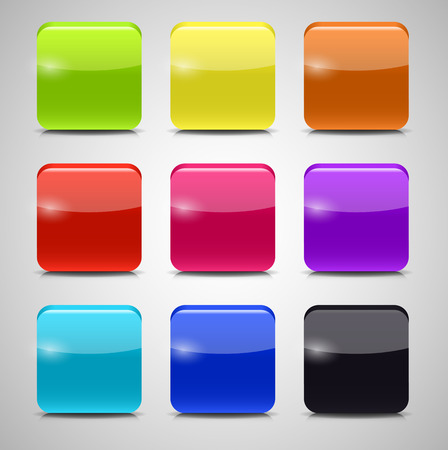 Colored Application Icons for Mobile Phones and Tablets, Vector Illustration Vector