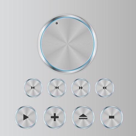 輝く光沢のあるアイコン セット ベクトル イラスト  イラスト・ベクター素材