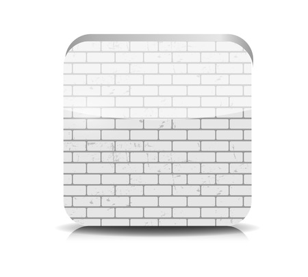Brick Application Button Vector Illustration. Vector