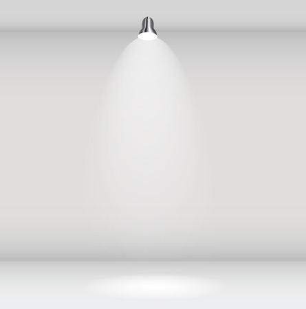 Empty Wall for Your Text and Images, Vector Illustration