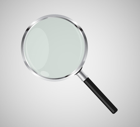 Magnifying Glass Search Icon Vector Illustration.   Vector