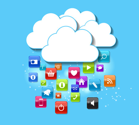 Cloud Computing Concept Vector Illustration.   Vector