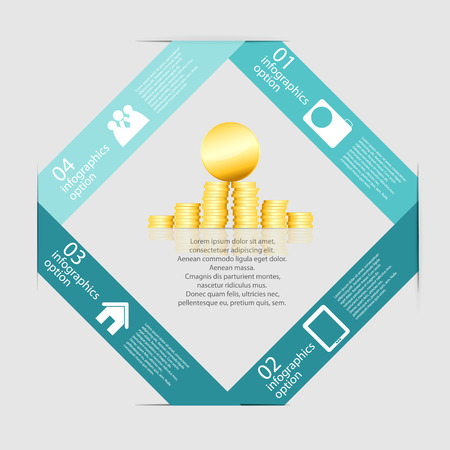 Infographic Templates for Business Vector Illustration Vector