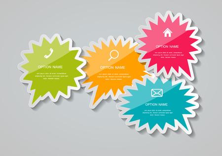 Speech Bubbles Stickers Vector Illustration.  Vector