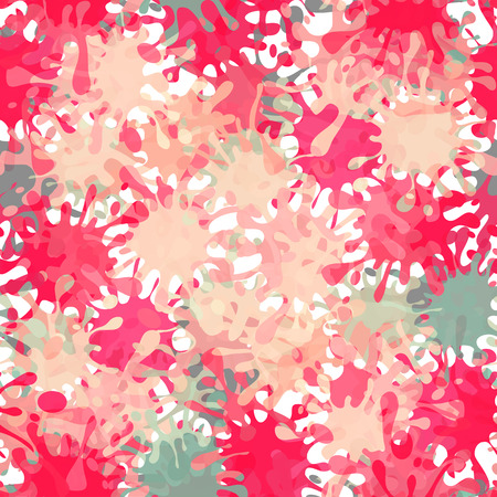 Vector Splash Abstract Seamless Pattern Background.  Vector