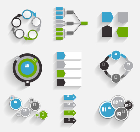 mega city: Collection of Infographic Templates for Business  Illustration