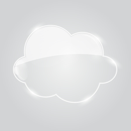 Illustration of Glass  Cloud Icon Vector