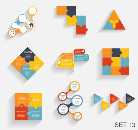 Collection of Infographic Templates for Business  Vector