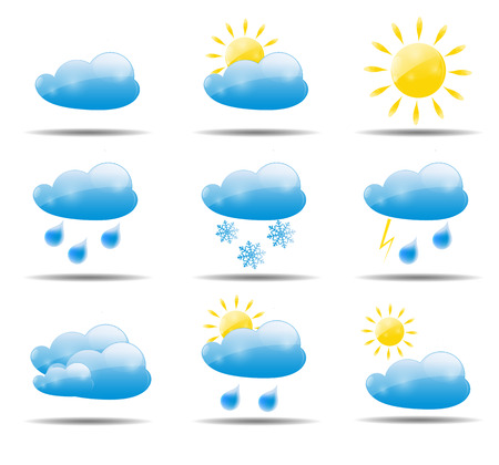 Weather Icons Set Vector Illustration.  Vector