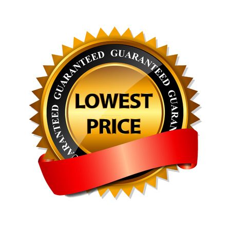 Lowest Price Guarantee Gold Label Sign Template  Ilustração