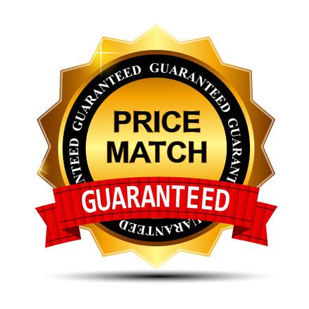 Gwarancja równej ceny Gold Template Wytwórnia Zaloguj Ilustracje wektorowe
