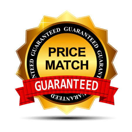 Price Match Guarantee Gold Label Sign Template Banco de Imagens - 28460013