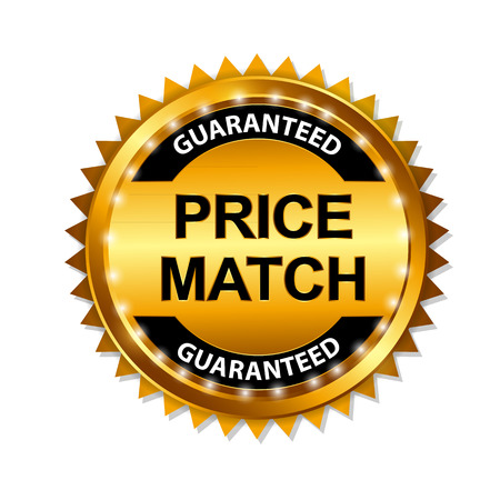 Price Match Guarantee Gold Label Sign Template Vector Illustration Vector