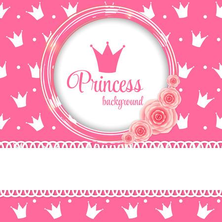 corona reina: Princesa de la Corona de fondo Ilustración vectorial.