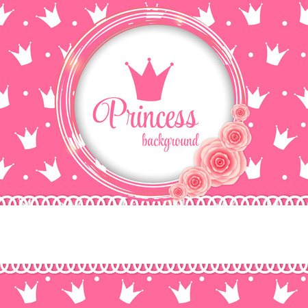 crown background: Princess Crown Background Vector Illustration.