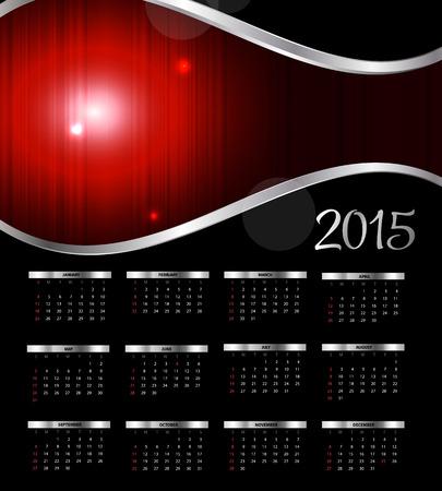 Vector Illustration  2015 New Year Calendar Vector