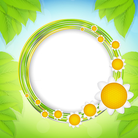 Summer Abstract Background  Vector Illustration