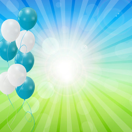 balloons party: Abstract Holiday Nature Background Vector Illustration