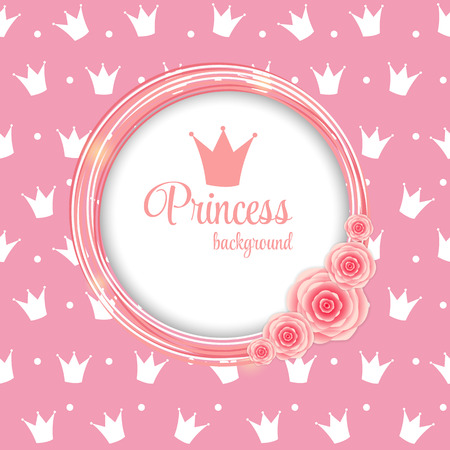 Princess Crown Background Vector Illustration  Vector