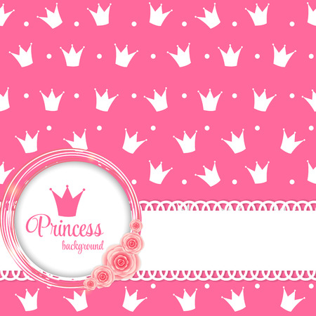 Princess Crown Background Vector Illustration  Illustration