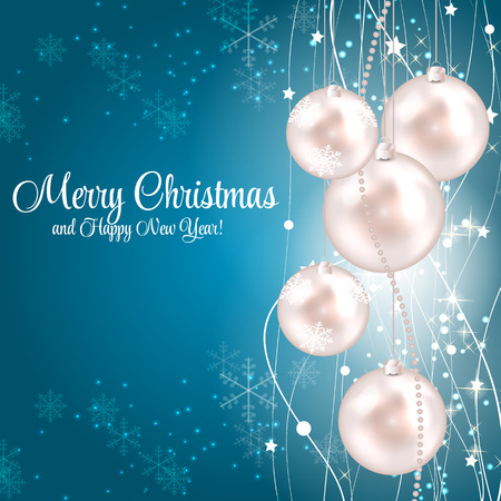 illust: Abstract Beauty Christmas and New Year Background  Vector Illust