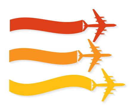aeronautics: Retro Airplane Banner  Vector Illustration