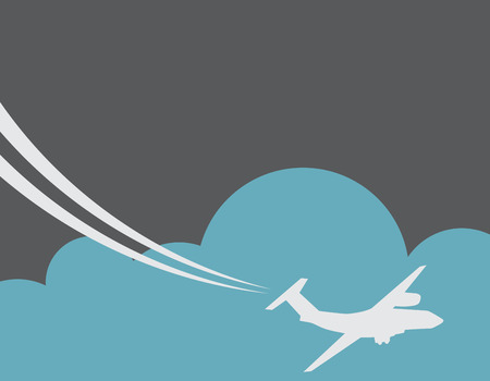 Retro Airplane Banner  Vector Illustration  Vector