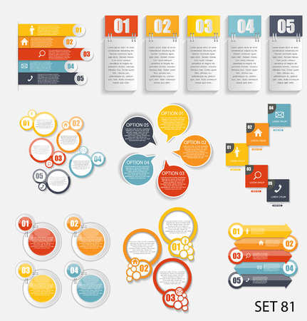 information technology icons: Collection of Infographic Templates for Business Vector Illustra