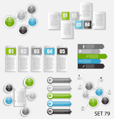 Collection of Infographic Templates for Business Vector Illustra Vector
