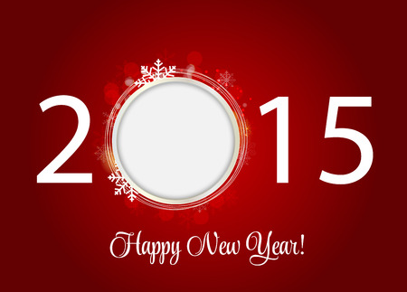 Abstract Beauty 2015 New Year Background. Vector Illustration. Illustration