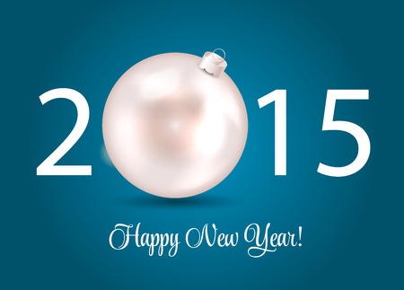 Abstract Beauty 2015 New Year Background. Vector Illustration.