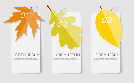 Autumn Leaves Infographic Templates for Business Vector Illustration. EPS10 Vettoriali