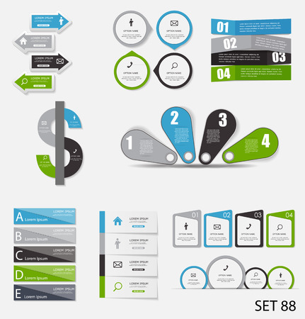Collection of Infographic Templates for Business Vector Illustration Stock Vector - 30682221