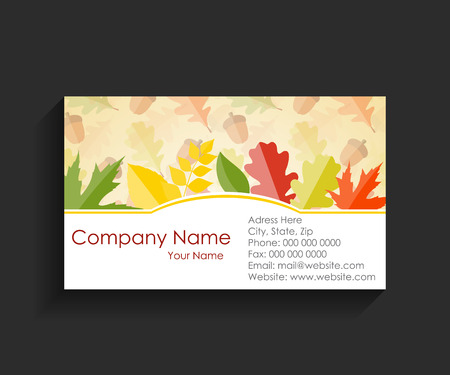 teared: Company Business Card on Black Background
