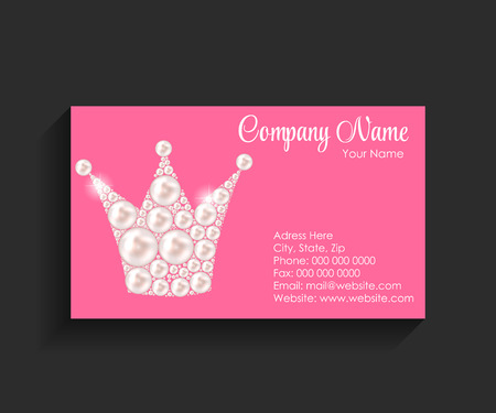 Company Business Card on Black Background. Vector Illustration. EPS10