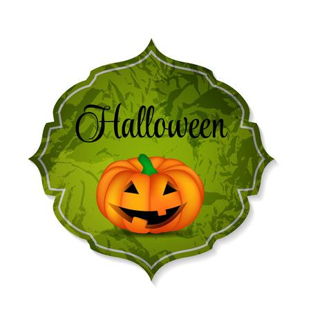 Halloween Background with Pumpkin  Illustration