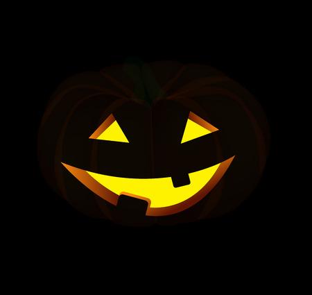 Halloween Background with Pumpkin Vector Illustration Vector