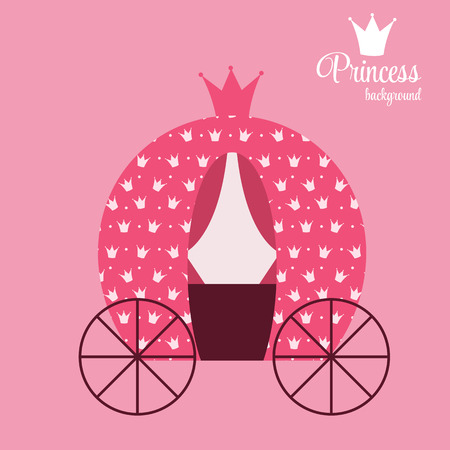Princess Crown Background Illustration. Vector