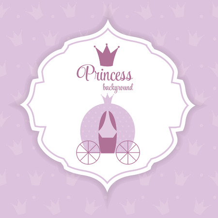 frog queen: Princess Crown Background Illustration.