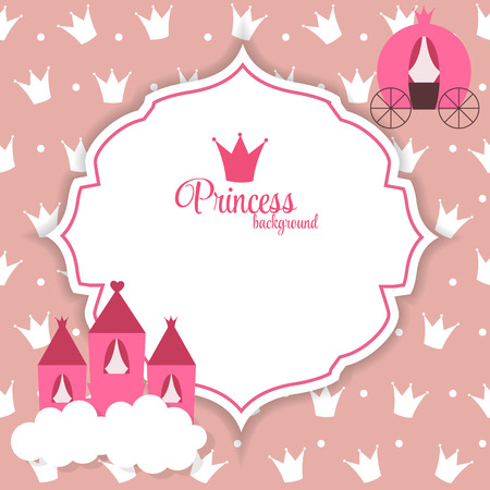 brougham: Princess Abstract Background Illustration.