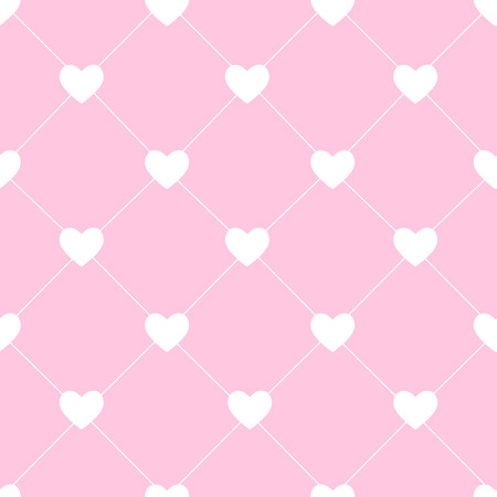 Valentines Day Seamless Hearts Pattern Vector Illustration Vector