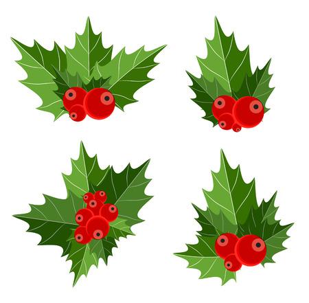 motivos navideños: Berry Christmas Regístrate Ilustración vectorial