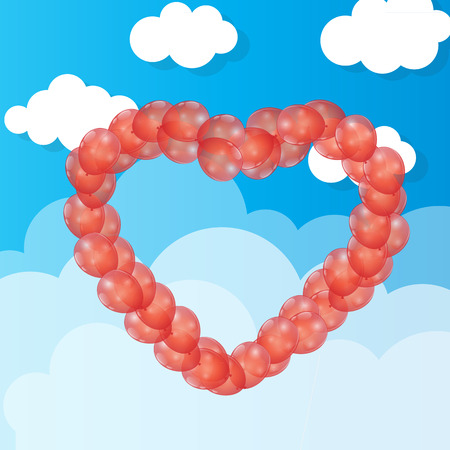 Balloon  Heart Illustration Background Vector