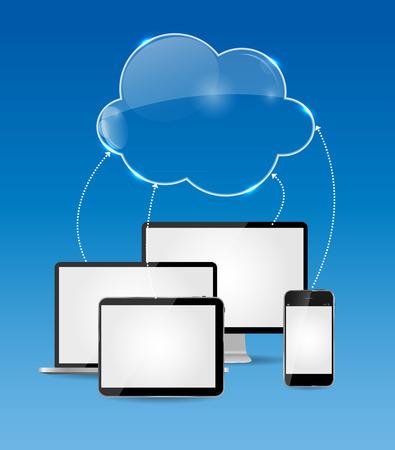 Cloud Computing Business Concept  Vector
