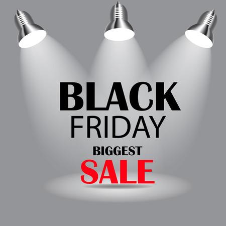 Black Friday Sale Icon Vector Illustration. Vettoriali