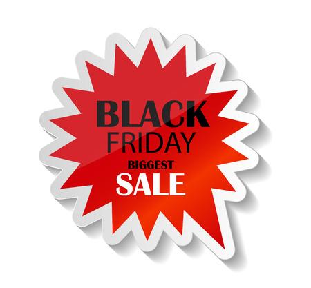 Black Friday Sale Icon Vector Illustration. Vector